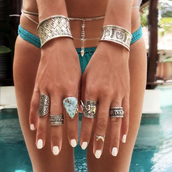 Boho Style Rings Set Disheefashion