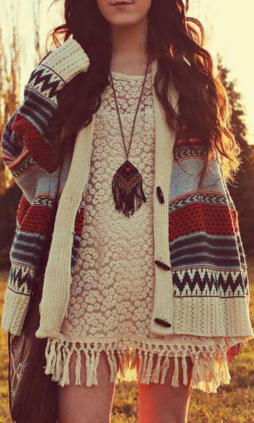 cardigan tribal cardigan jewels sweater boho hippie chic outerwear knitwear knitted cardigan