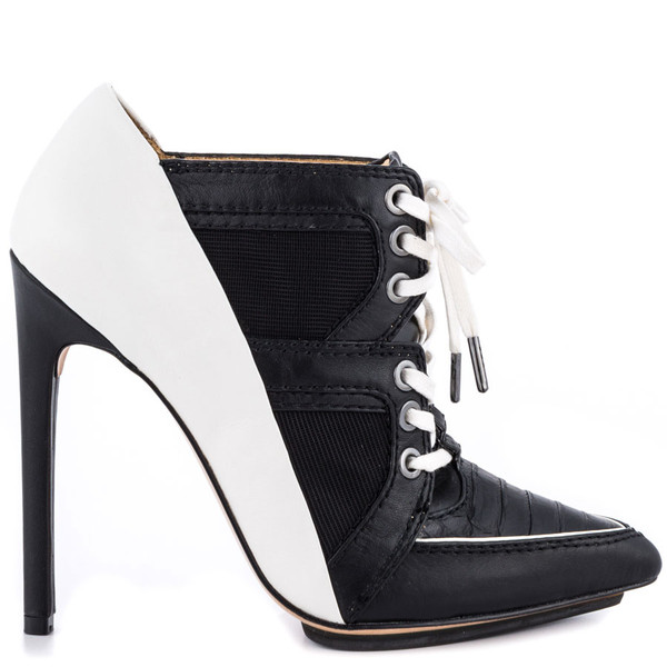 shoes lace up heels black and white pumps b&w w&b party prom casual casual casual shoes leather