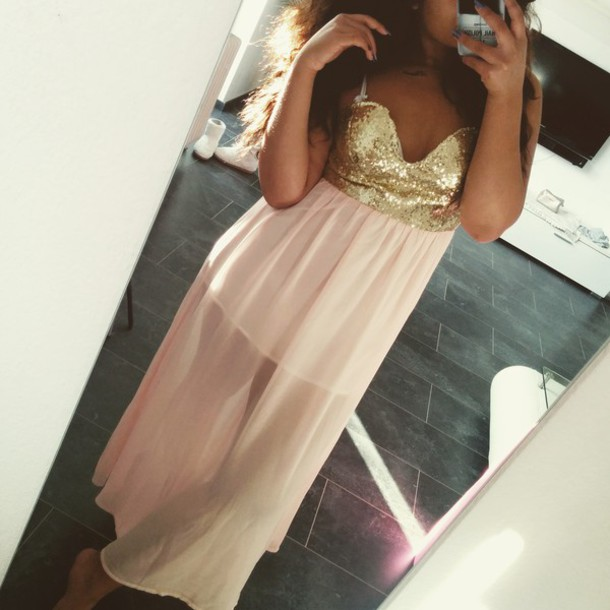 dress gold glitter glitter low back dress sexy dress rose
