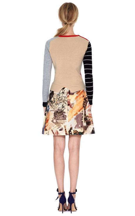 Wool Knit Sweater with Asymmetric Hem by Carven - Moda Operandi