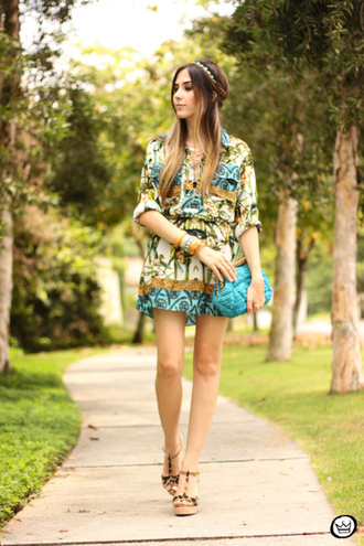 fashion coolture blogger clutch headband folk boho tropical