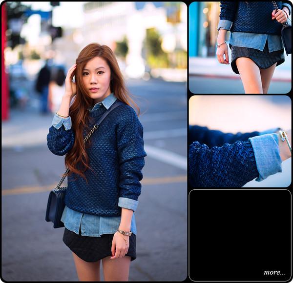 tsangtastic sweater shirt skirt jewels shoes bag