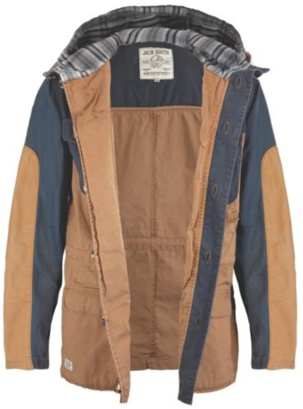 coat mens cotton clasp two tone check casual jacket winter outfits fisherman camel denim hooded mens parka
