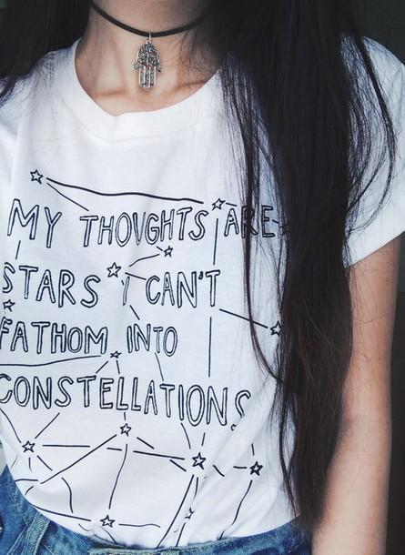 top t-shirt stars jewels grunge bracelets punk shirt