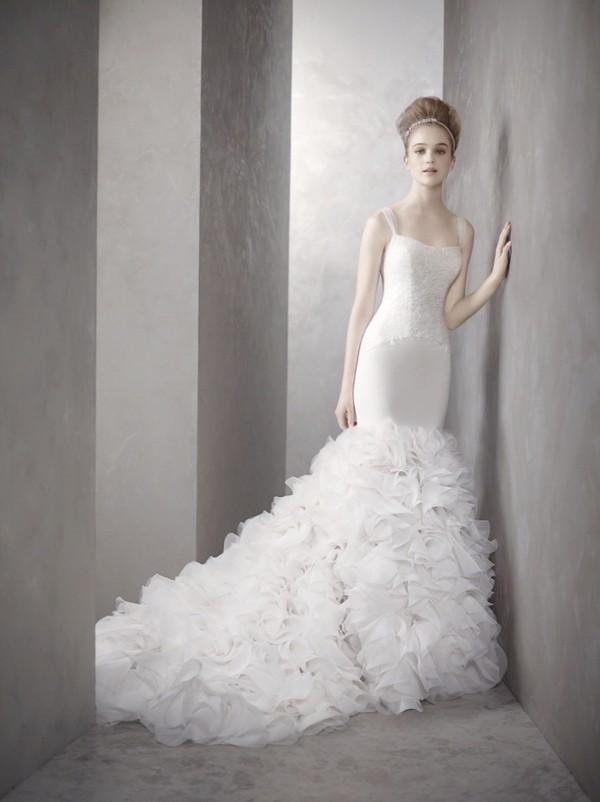 dress mermaid wedding dress white dress