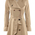 ROMWE | Lapel Belted Slim Cream Trench Coat, The Latest Street Fashion