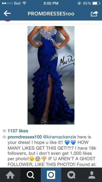dress prom dress royal blue dress prom gown prom dress royal blue