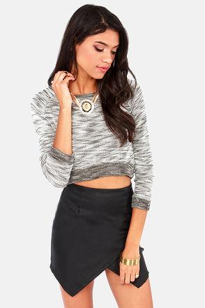 Cool Crop Sweater - Crop Top - Knit Sweater - $31.00
