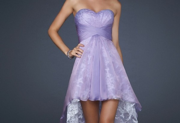 dress colorful ballet purple lace strapless sweetheart neckline shade
