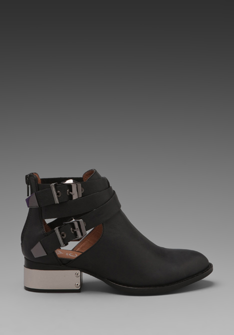 JEFFREY CAMPBELL Everly Bootie w/ Buckles in Black/Silver at Revolve Clothing - Free Shipping!