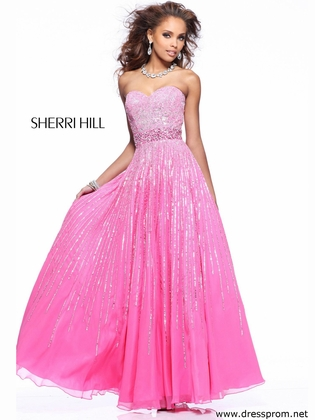 Sweetheart Sequin Bodice Prom Gown By Sherri Hill 8437: DressProm.net