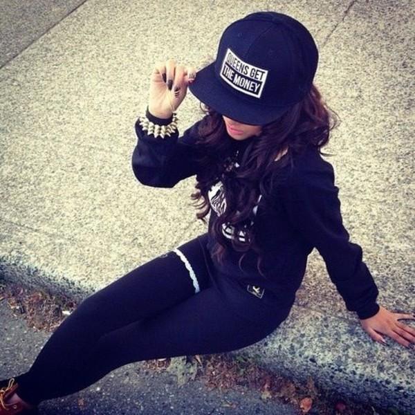hat snapback jewelry sweater pants jewels