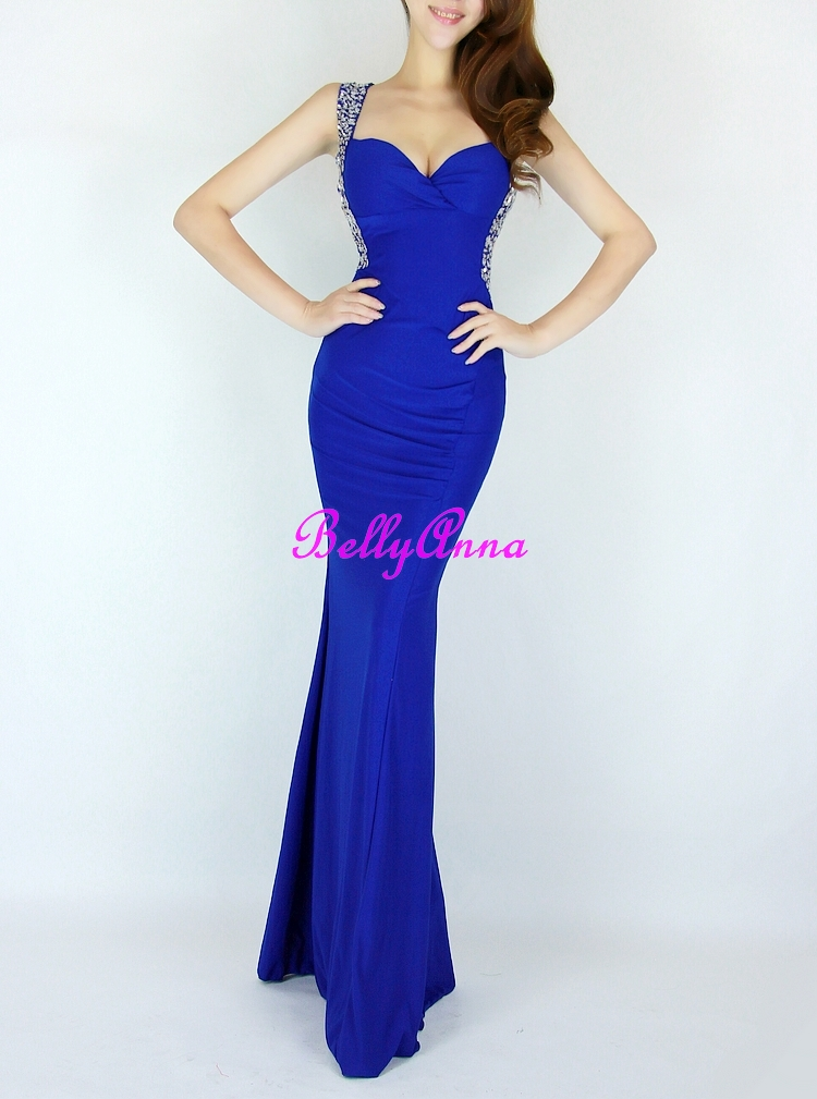 Sexy Luxury Sequins VNeck Backless Mermaid Prom Cocktail Evening Gown Long Dress | eBay