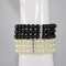 3 row pearl bracelet - black