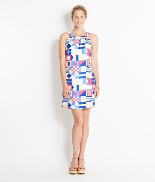 Shop Dresses: Silk Nautical Signal Print Dress for Women | Vineyard Vines