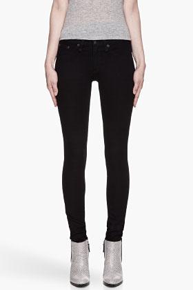 RAG & BONE Dark Navy Mock-pocket The Legging Jeans for women   SSENSE