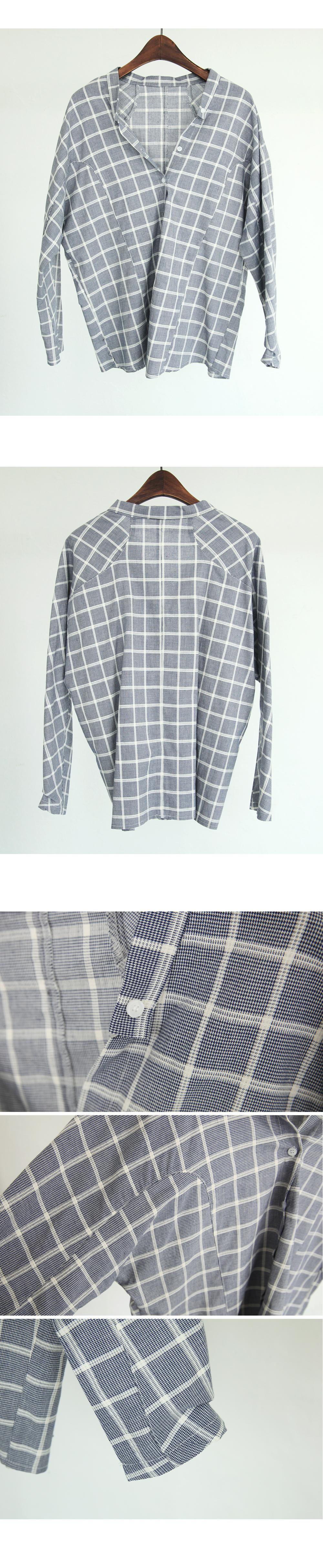 Mandarin Patterned Button Down Shirt - BLACKFIT: Shop Korean clothing, bags, shoes and acc. for women