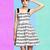 A-line Collarless Print Blends Dresses : KissChic.com