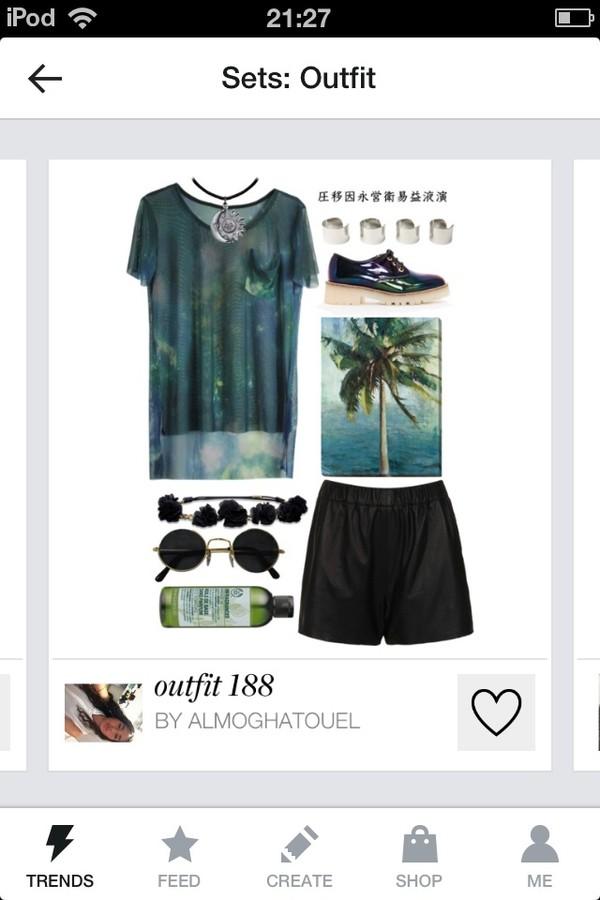 jewels t-shirt sunglasses shoes shorts