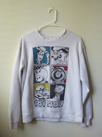 sweater toy story long sleeves grey disney animation