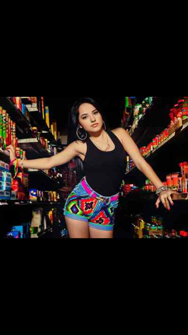 shorts jeans aztec colorful becky g