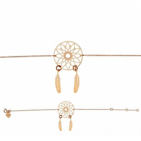 Bracelet chaine Dreamcatcher plaqué or rose - Lili Shopping
