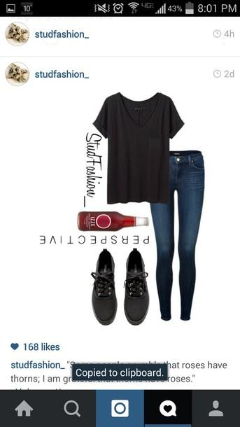 blouse black t-shirt