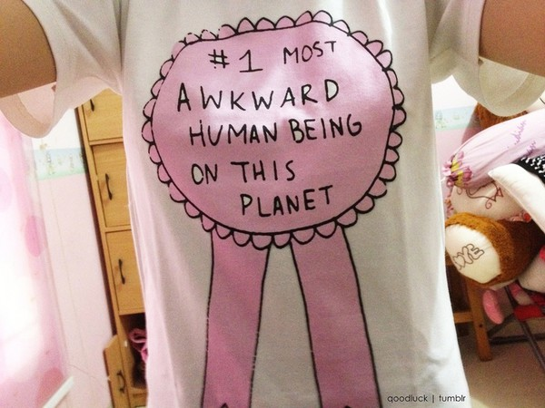 t-shirt medal awkward shirt