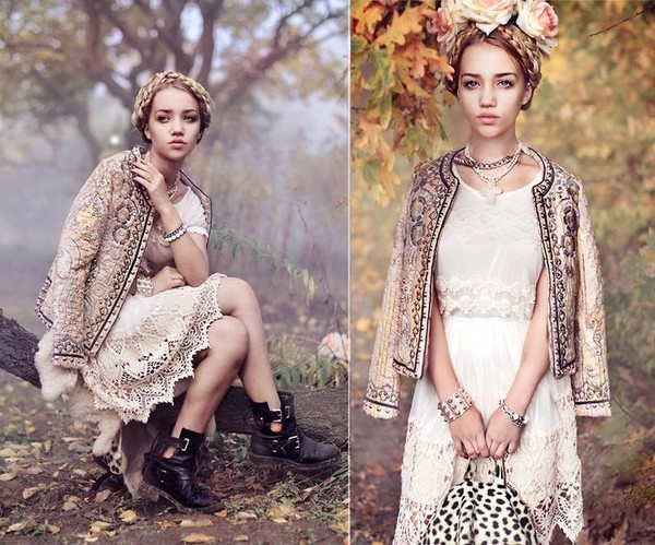 dress white dress crochet dress shoes boots flower crown ukraine aksinya air bag necklace bracelets jewels jacket embellished jacket