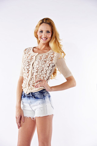 Ombre/Bleached Distressed Denim Shorts   Affordable Junior Clothing & Plus Sized Dresses   Shimmer