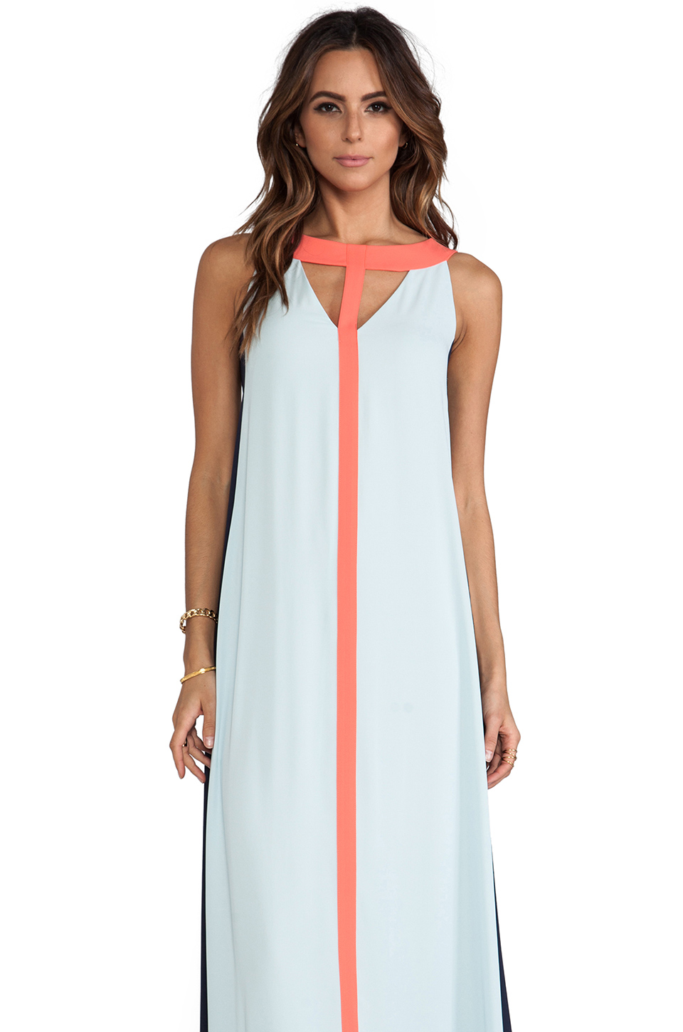 BCBGMAXAZRIA Wilah Dress in Sterling Blue Combo | REVOLVE