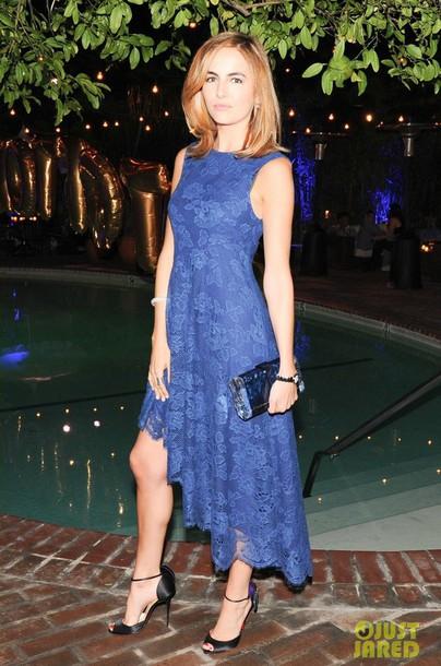 camilla belle pumps louboutin lace dress blue dress