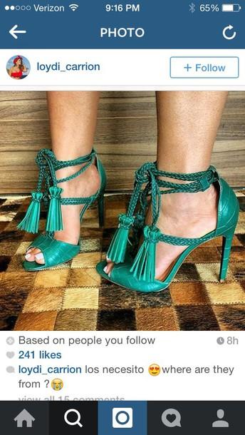 shoes heels tassel