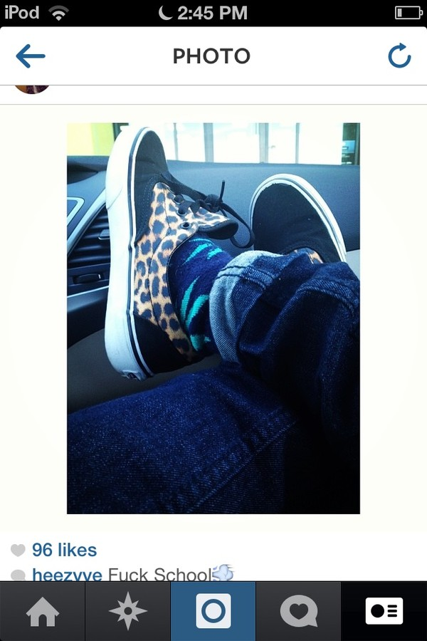 shoes vans leopard print clothes weed socks