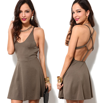 Aliexpress.com : Buy Free Shipping 2014 Fashion  normic carrick bend back racerback low o neck sleeveless tank dress one piece dress  from Reliable dress bandage suppliers on ED FASHION.