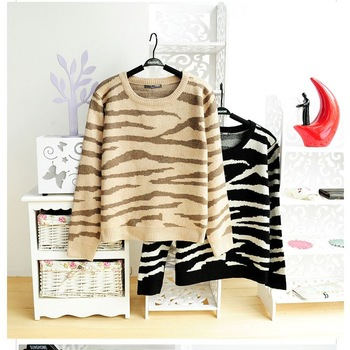 Zebra print women's sweater women thickening sweater pullover sweater-inPullovers from Apparel & Accessories on Aliexpress.com