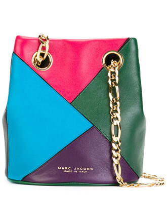 women bag bucket bag leather green