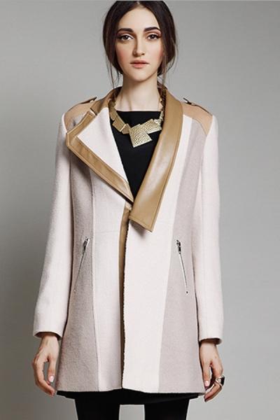 Street-chic Paneled Wool-blend Coat - OASAP.com