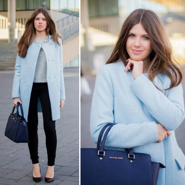 frau eismann coat pants sweater bag shoes jewels