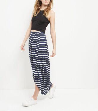 skirt maxi skirt wrap skirt wrap stripes striped skirt blue skirt blue long skirt