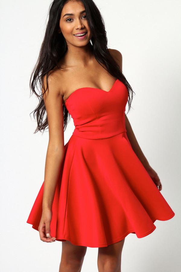 dress boohoo.com red dress