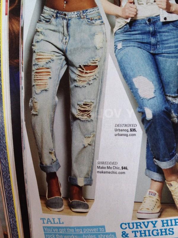 jeans shredded leg denim ripped jeans light blue