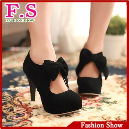 vintage/retro style,woman small bowtie platform pumps,lady's sexy high heeled shoes,sandals for women HH270-in Pumps from Shoes on Aliexpress.com