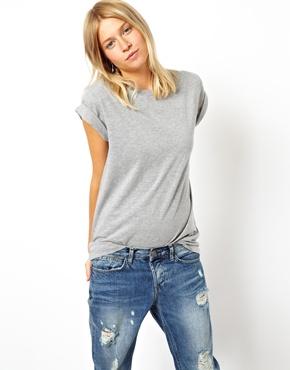 ASOS   ASOS Boyfriend T-Shirt with Roll Sleeve at ASOS
