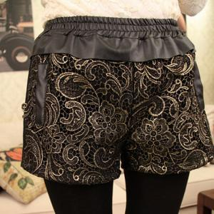 Stitching Lace Shorts on Luulla