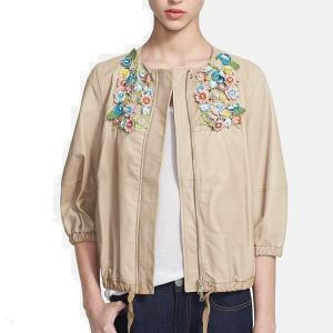 Valentino RED Natural Embellished Leather Jacket - Sale