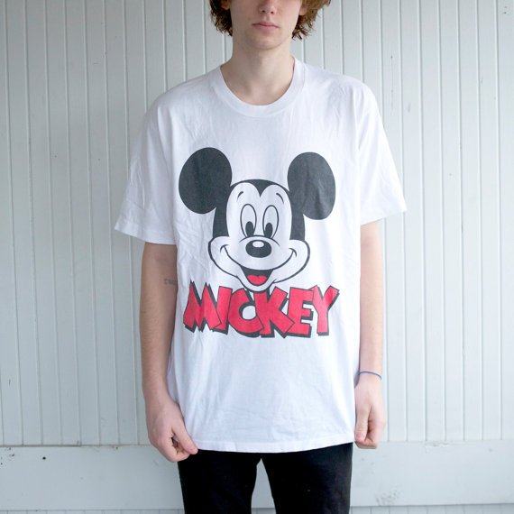 90's Mickey Mouse Graphic TShirt by PaxSuburbia on Etsy