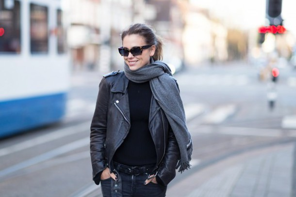 after drk blogger sunglasses perfecto leather jacket