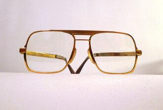 glasses gold eyewear eyeglasses vintage 1970s sunglasses